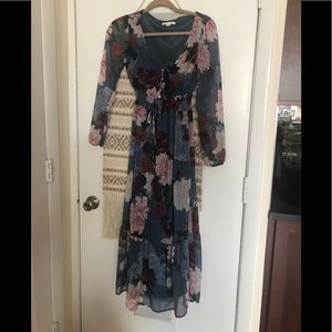Beautiful floral maxi dress size 34